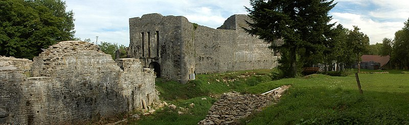 Photo du Monument Historique Château et son colombier situé à Présilly