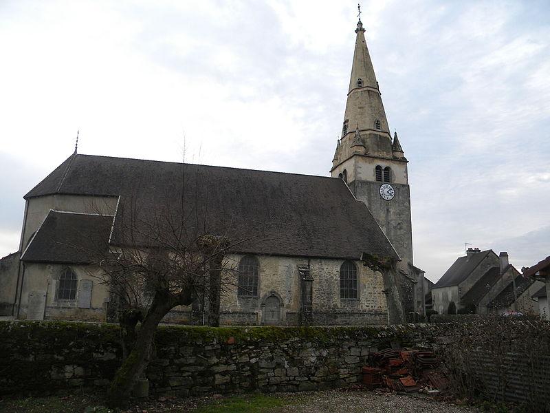 Photo du Monument Historique Eglise paroissiale Saint-Aignan situé à Ruffey-sur-Seille