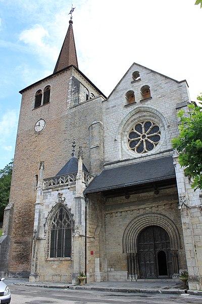 Photo du Monument Historique Eglise Saint-Anatoile situé à Salins-les-Bains