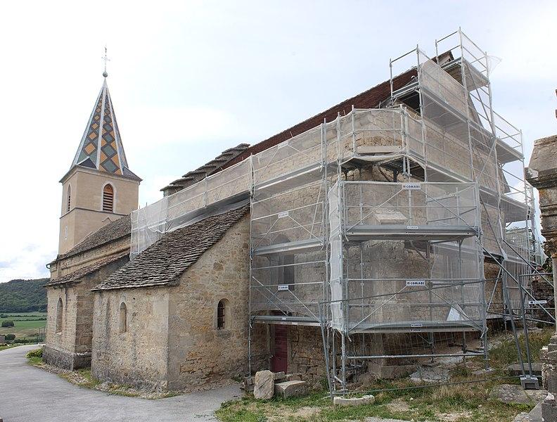 Photo du Monument Historique Eglise du hameau de Saint-Christophe situé à Tour-du-Meix (La)