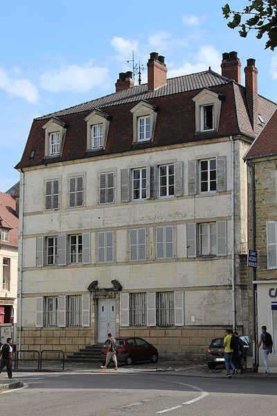 Photo du Monument Historique Hôtel Petitjean de Rotalier situé à Lons-le-Saunier