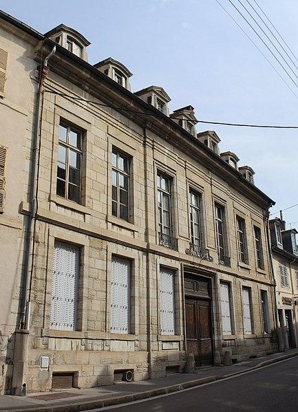 Photo du Monument Historique Hôtel Abriot de Grusse situé à Lons-le-Saunier