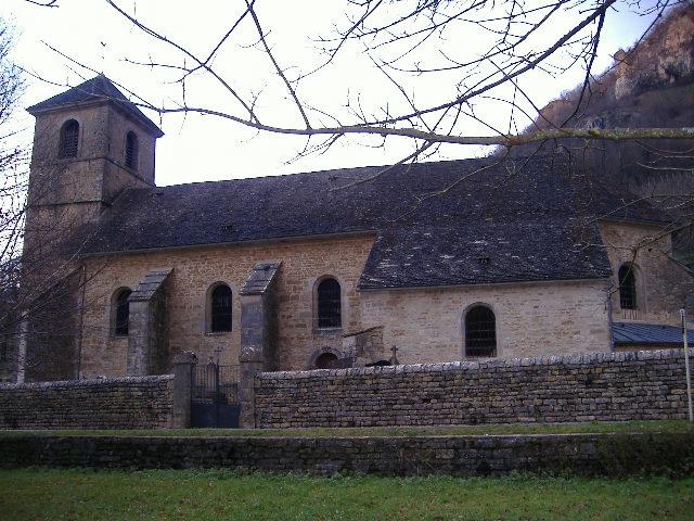 Photo du Monument Historique Eglise paroissiale Saint-Jean-Baptiste situé à Baume-les-Messieurs