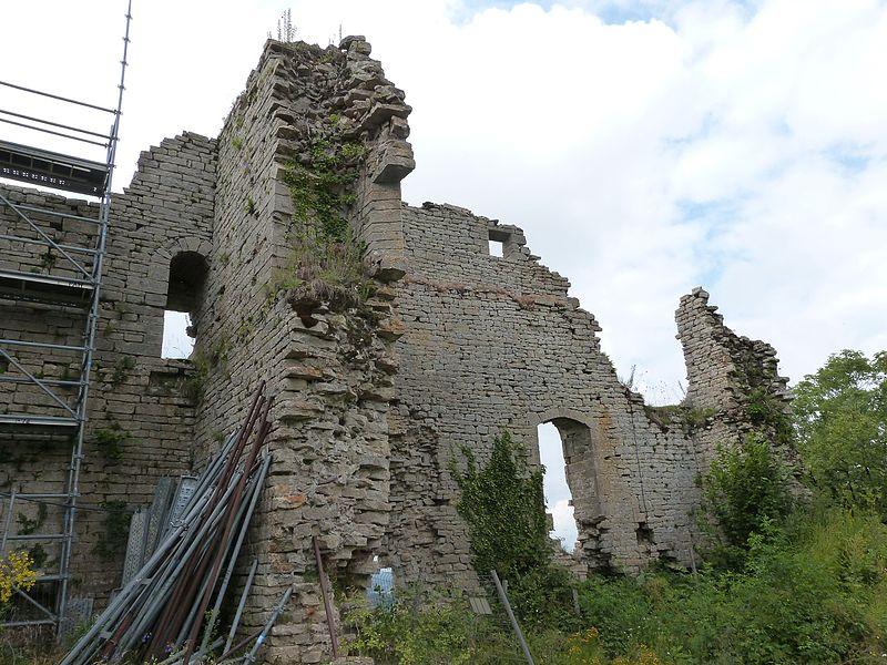Photo du Monument Historique Ruines du château situé à Mirebel