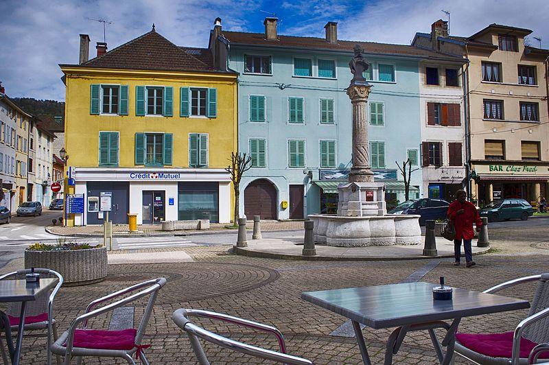 Photo du Monument Historique Fontaine de l'Hôtel de Ville situé à Moirans-en-Montagne