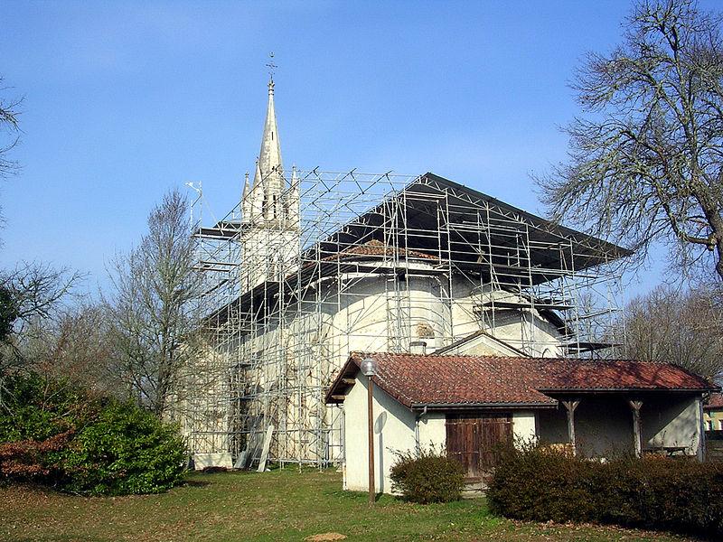 Photo du Monument Historique Eglise Saint-Martin situé à Commensacq