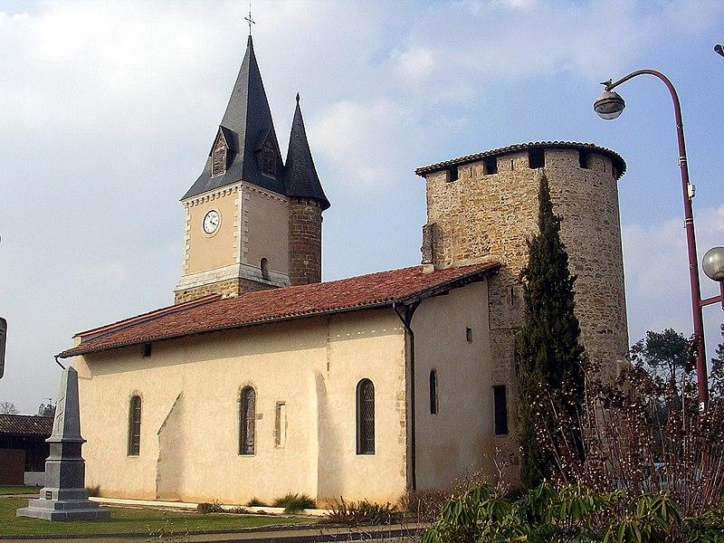 Photo du Monument Historique Eglise Saint-Médard situé à Geloux