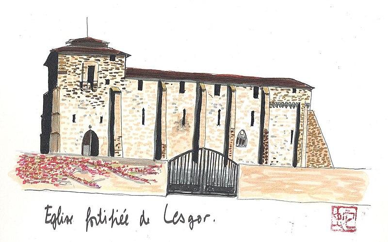 Photo du Monument Historique Eglise Saint-Pierre situé à Lesgor