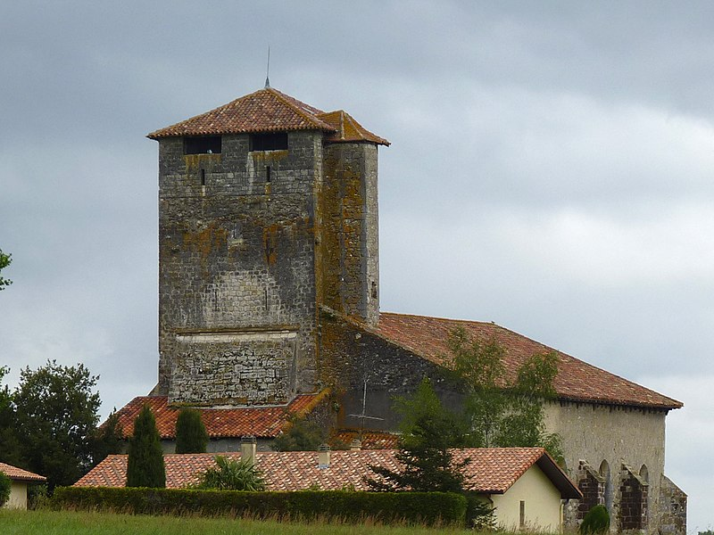 Photo du Monument Historique Eglise Saint-Pierre de Brocas situé à Montaut