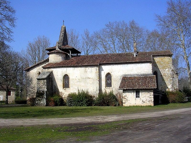 Photo du Monument Historique Eglise Saint-Martin situé à Moustey