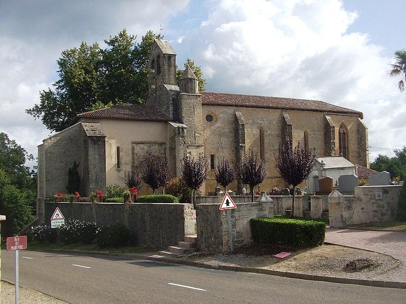 Photo du Monument Historique Eglise Saint-Martin situé à Saint-Martin-de-Hinx