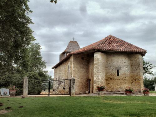 Photo du Monument Historique Eglise du Geou dite Notre-Dame des Cyclistes situé à Labastide-d'Armagnac