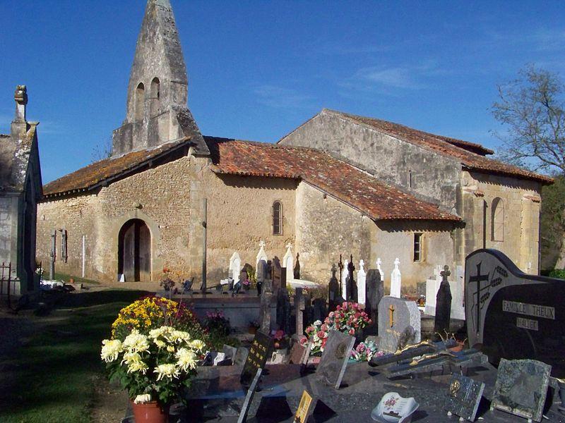 Photo du Monument Historique Eglise Saint-Jacques de Sensacq situé à Miramont-Sensacq