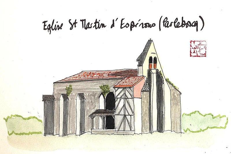 Photo du Monument Historique Eglise Saint-Martin d'Espérous situé à Parleboscq