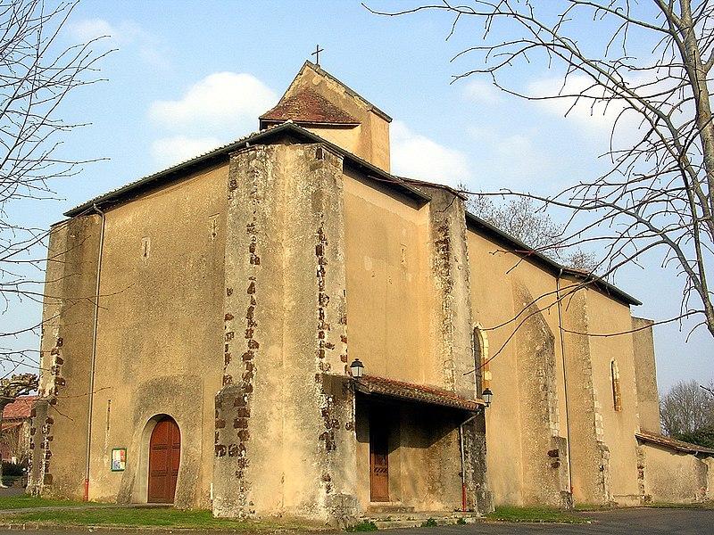 Photo du Monument Historique Eglise Saint-Jean-Baptiste situé à Arjuzanx