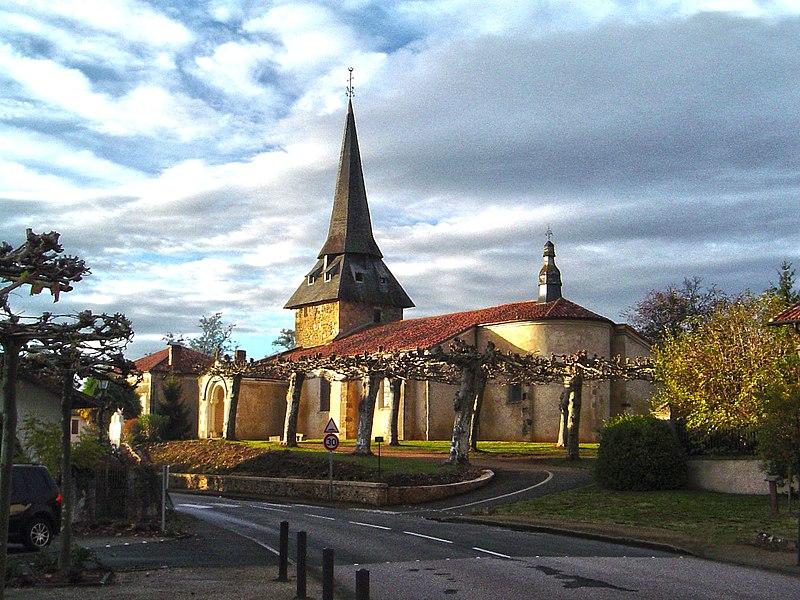 Photo du Monument Historique Eglise Saint-Jacques situé à Laurède