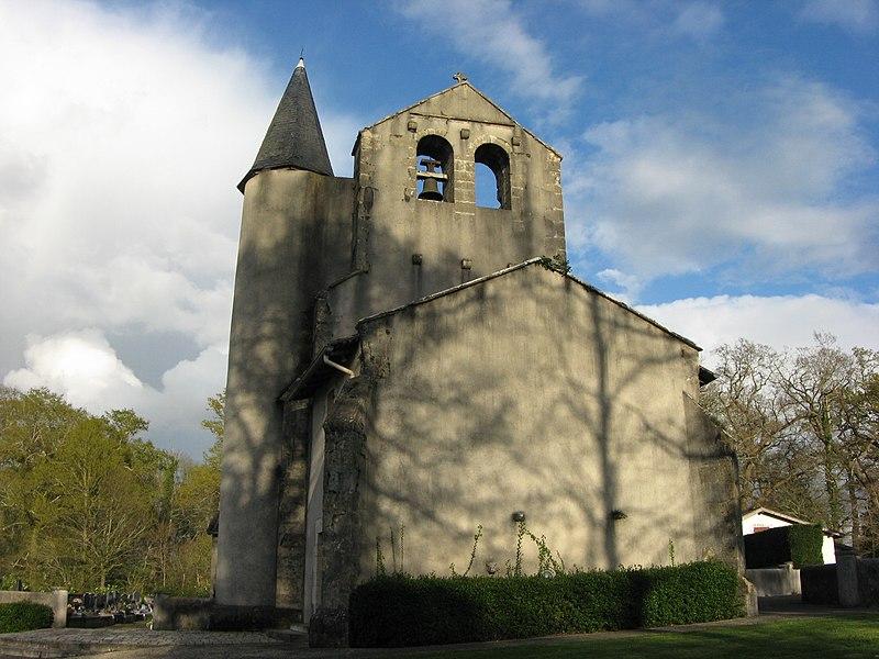 Photo du Monument Historique Eglise Saint-Etienne situé à Biarrotte