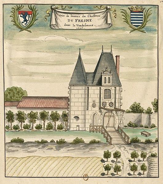 Photo du Monument Historique Château du Fresne situé à Authon