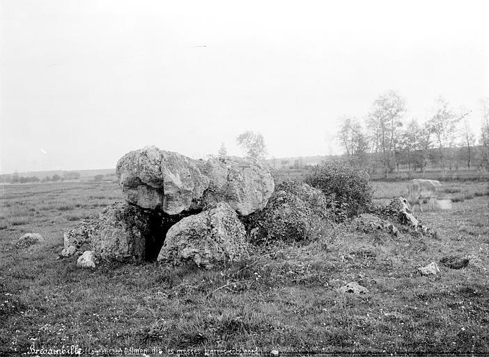Photo du Monument Historique Dolmen dit Les Grosses Pierres situé à Brévainville
