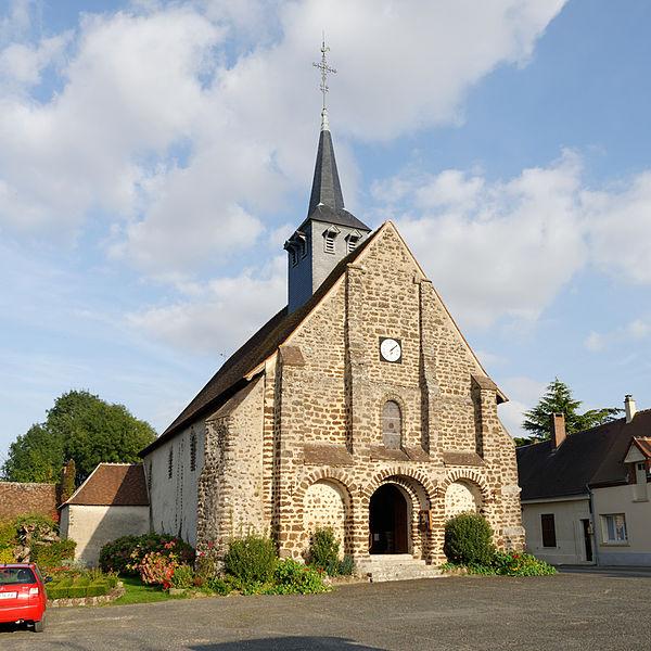 Photo du Monument Historique Eglise Saint-Loup-Saint-Gilles situé à Fontenelle (La)