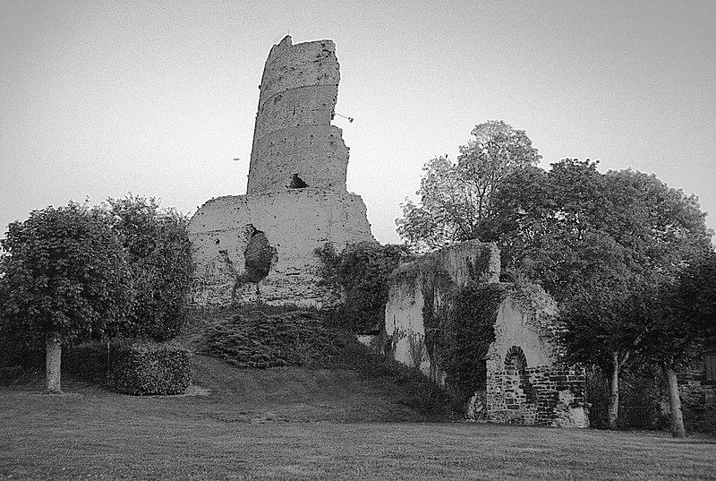 Photo du Monument Historique Ruines du château situé à Mondoubleau