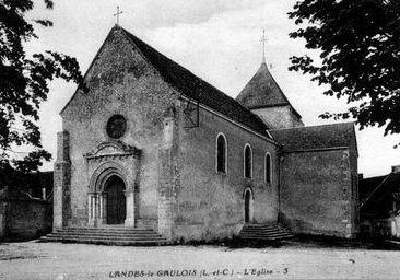 Photo du Monument Historique Eglise Saint-Lubin situé à Landes-le-Gaulois