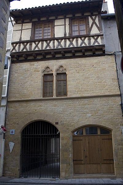 Photo du Monument Historique Maison dite Hôtel d'Armagnac situé à Charlieu