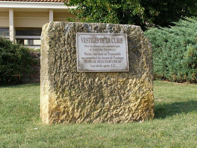 Photo du Monument Historique Forum gallo-romain (vestiges) situé à Feurs