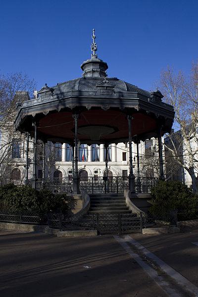 Photo du Monument Historique Kiosque à musique de Marengo situé à Saint-Etienne