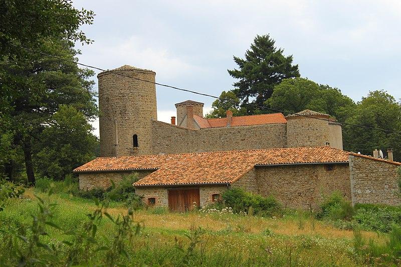 Photo du Monument Historique Château de la Merlée situé à Saint-Julien-la-Vêtre