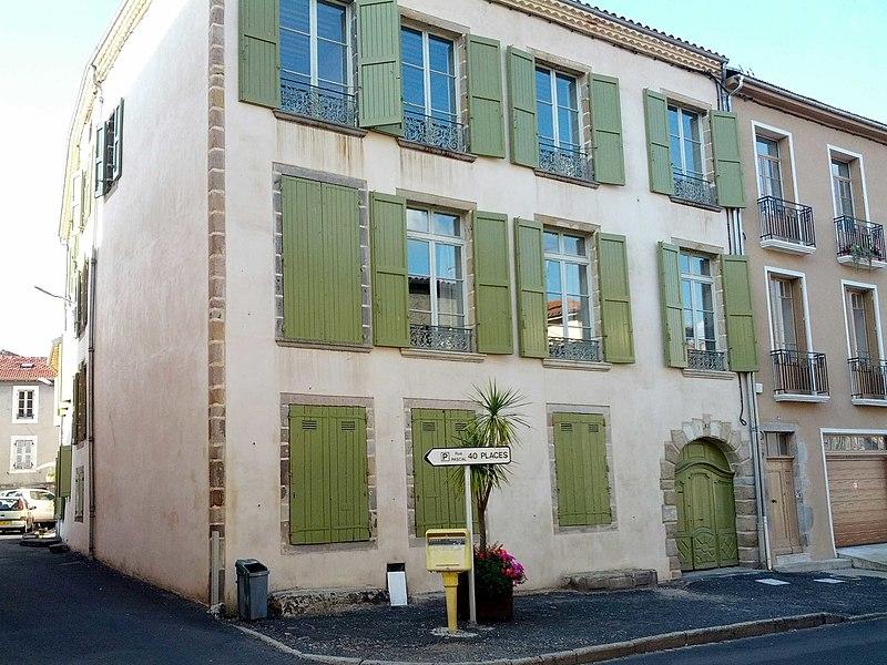 Photo du Monument Historique Hôtel Tabart situé à Brioude