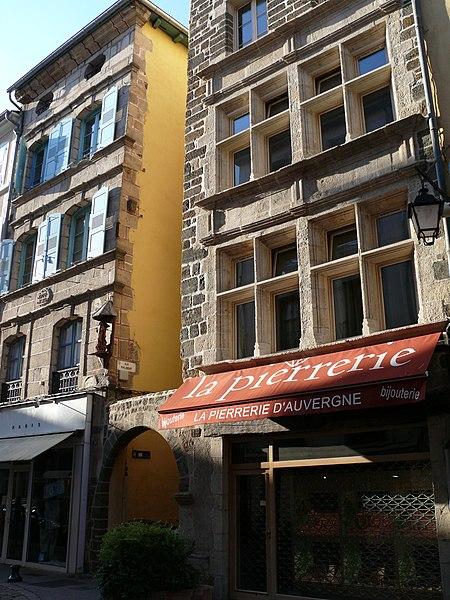 Photo du Monument Historique Maison situé à Le Puy-en-Velay