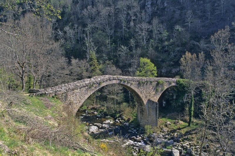 Photo du Monument Historique Vieux Pont dit Pont du Diable situé à Saint-André-de-Chalencon