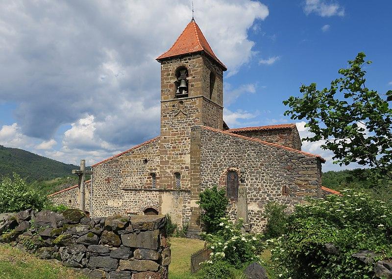 Photo du Monument Historique Eglise Saint-Loup situé à Saint-Arcons-d'Allier