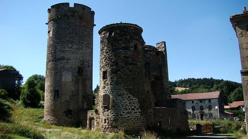 Photo du Monument Historique Château de Mercoeur situé à Saint-Privat-d'Allier
