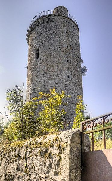 Photo du Monument Historique Château fort de Joyeuse situé à Dunières