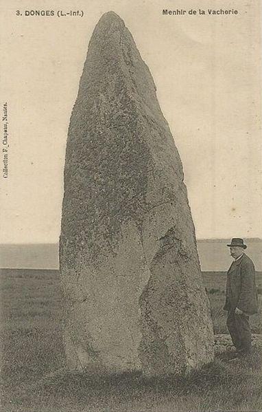 Photo du Monument Historique Menhir dit de la Vacherie situé à Donges