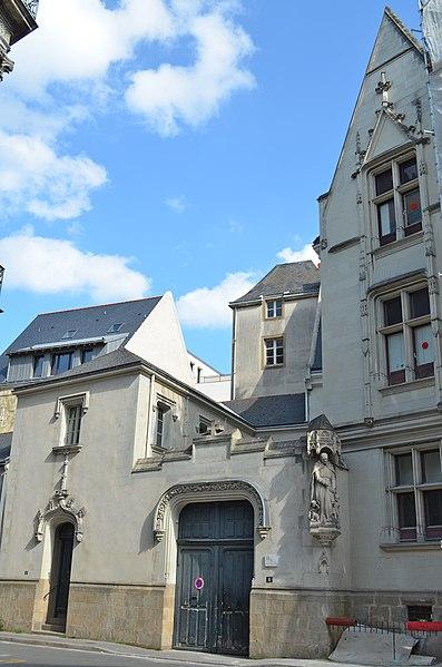 Photo du Monument Historique Hôtel Saint-Aignan situé à Nantes