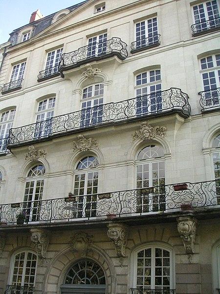 Photo du Monument Historique Immeuble dit le Temple du Goût situé à Nantes