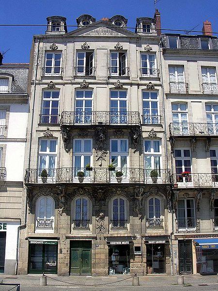 Photo du Monument Historique Maison ou ancienne maison Trochon situé à Nantes