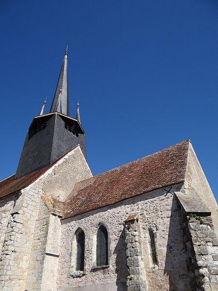 Photo du Monument Historique Eglise Saint-Laurent situé à Auvilliers-en-Gâtinais