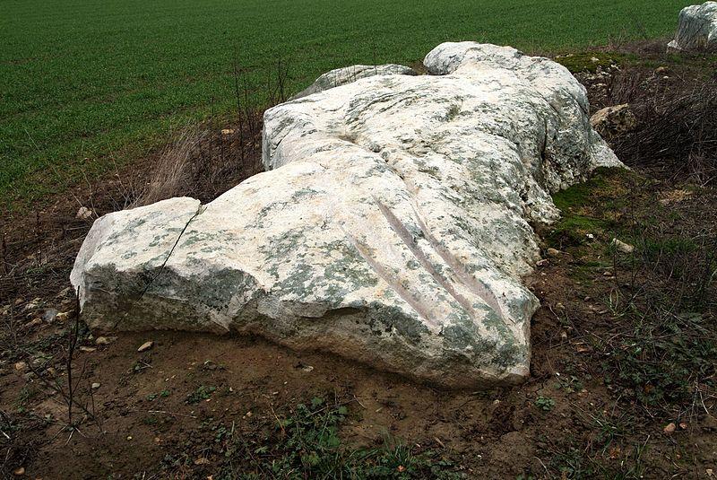 Photo du Monument Historique Polissoirs et menhir de Coinche situé à Chantecoq