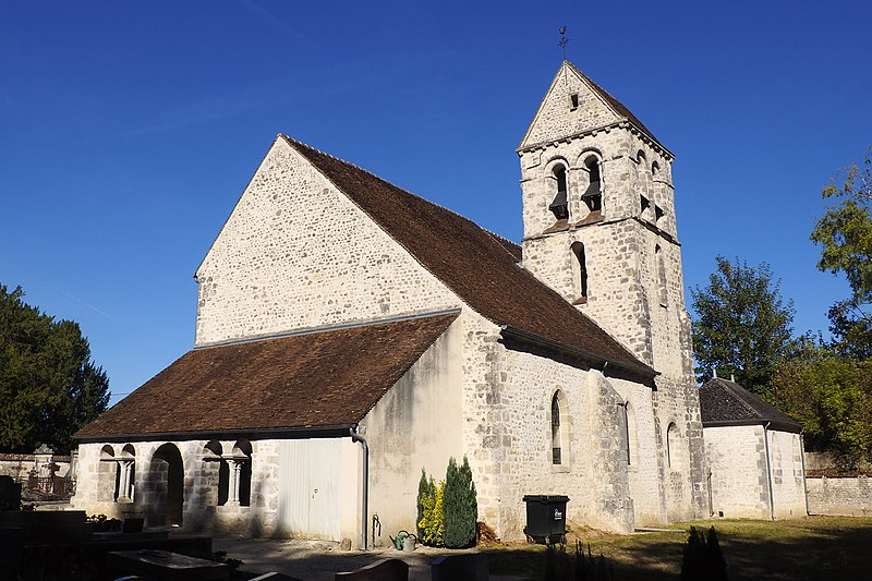 Photo du Monument Historique Eglise Saint-Aubin situé à Gaubertin