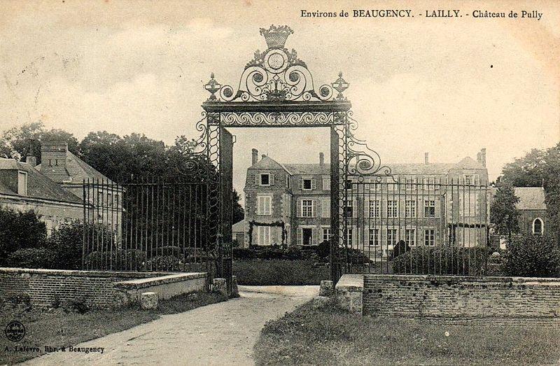 Photo du Monument Historique Château de Pully situé à Lailly-en-Val