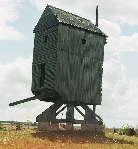 Photo du Monument Historique Moulin à vent de l'Epinay situé à Loury