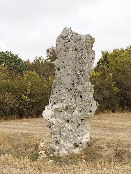 Photo du Monument Historique Menhir dénommé Grande Pierre ou Pierre de Minuit situé à Louzouer