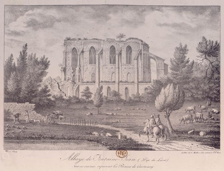 Photo du Monument Historique Ruines de l'abbaye de Fontainejean (ou Fontaine-Jean) situé à Saint-Maurice-sur-Aveyron