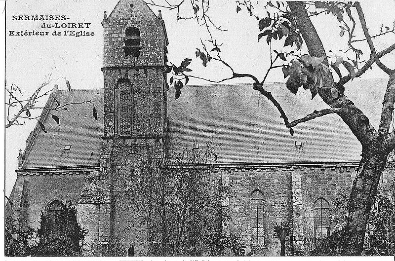 Photo du Monument Historique Eglise Saint-Martin et Saint-Loup situé à Sermaises