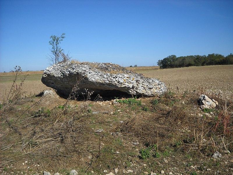 Photo du Monument Historique Dolmen dit La Pierre du Vert-Galant ou du Ver-Valland situé à Tavers
