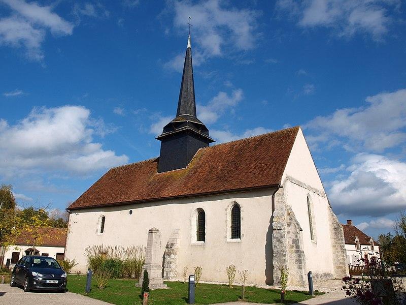 Photo du Monument Historique Eglise Saint-Louis situé à Cour-Marigny (La)